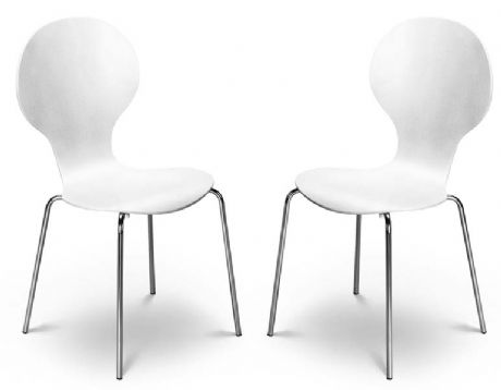 Kimberley White & Chrome Dining Chairs Sale Now On Your Price Furniture
